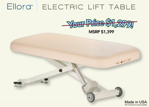 massage therapy electric lift table